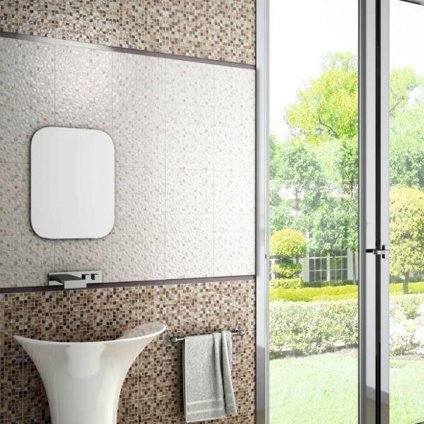 Andros Marron kupatilo primjer zidne kockice pločice