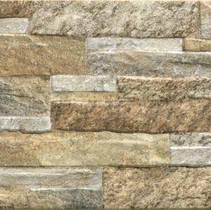 Aneto Pedra 25x40 STN pločica zidna kamen narančasta bež reljefna