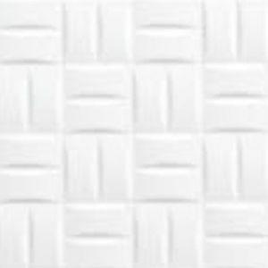 Cross Line Blanco 25x50 reljefna zidna keramička pločica kockice bijela