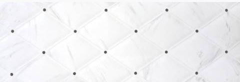 Fedra Dekor Blanco 25x75 ukrasna zidna bijela pločica