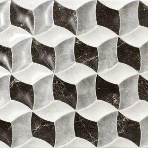 Labrador Fan mix 25x50 kockice reljefne 3d crno bijele šahovnica