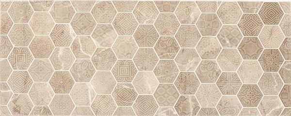 Verona Tortora Esagoni Dekor 20x50 zidna keramička bež pločica hexagon