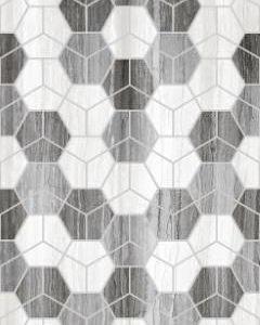 Royal Grey Hegza Motif Dekor 25x50 zidna pločica siva seramiksan