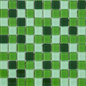 Mozaik stakleni bijelo-zeleni LV34