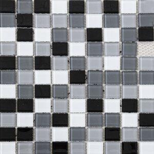 Mozaik stakleni crno-sivi LV23